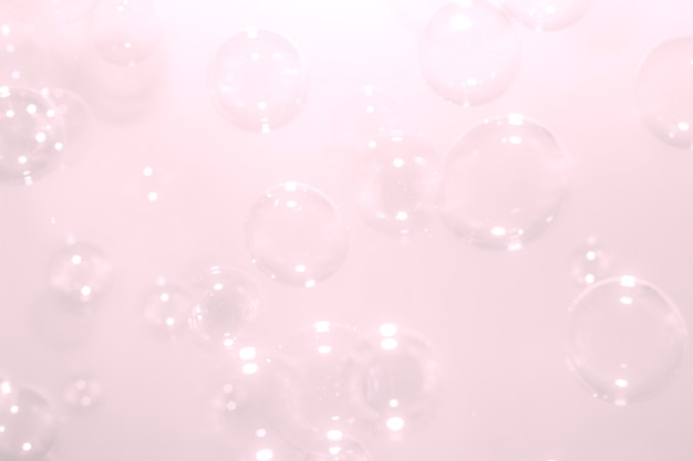 ピンクのシャボン玉が浮かぶ背景