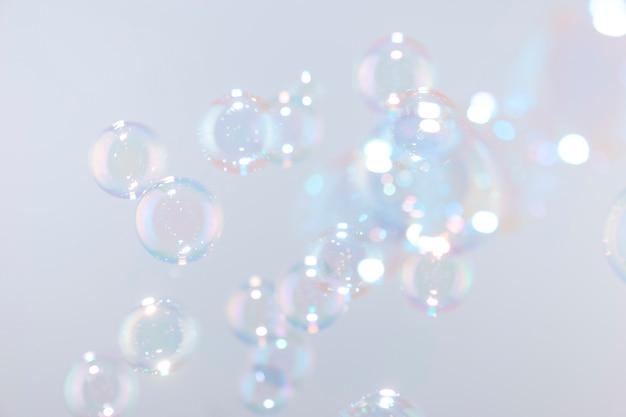 石鹸の泡、自然な背景