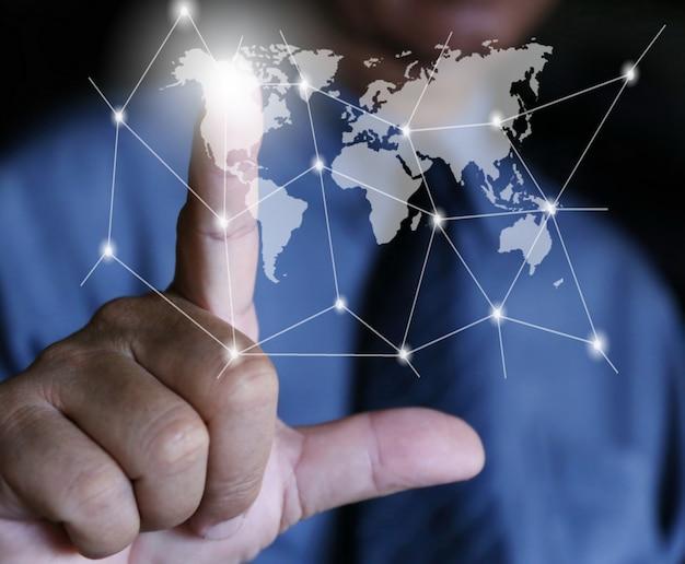 ビジネスマン書くソーシャルネットワーク
