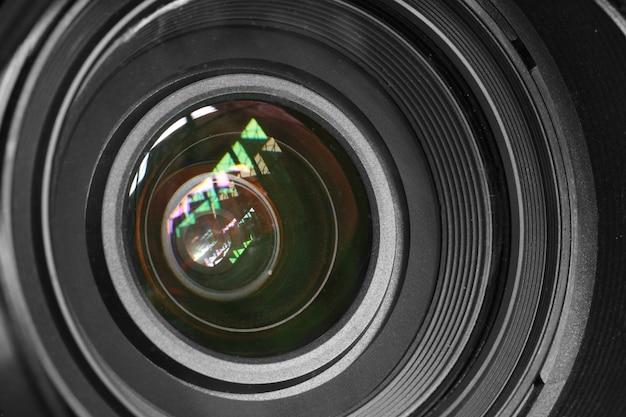カメラレンズの背景