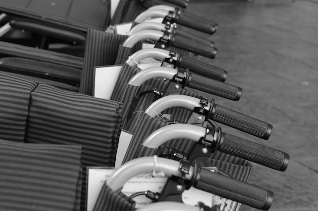 車椅子のハンドル