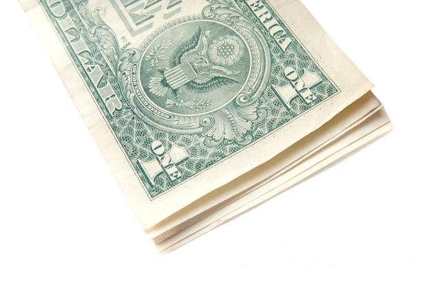 ドル紙幣のスタック