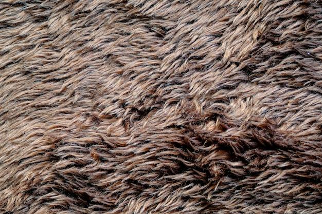 茶色の柔らかい毛皮のテクスチャ