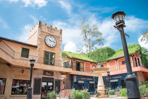 ヨーロピアンスタイルで装飾されたパリオカオヤイの写真。カオヤイ国立公園の近くの観光と写真の場所です