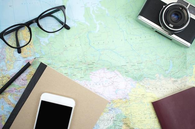 Туристические аксессуары на карте