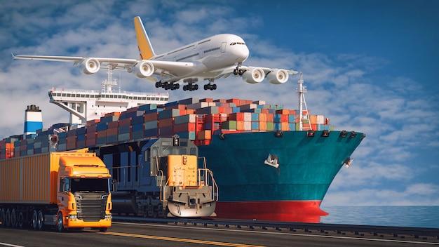 輸送と物流。