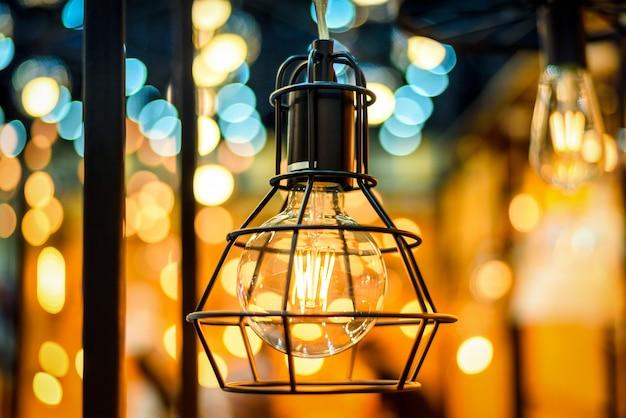 ビンテージ照明エジソン電球の装飾、白熱灯レトロスタイル