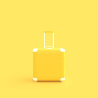 Туристический чемодан желтого пастельного цвета