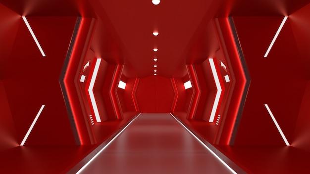 リアルな赤い宇宙船