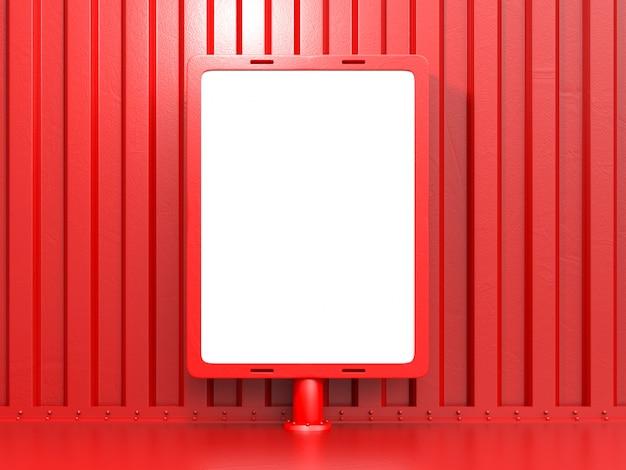 Рекламный щит для рекламы красного цвета