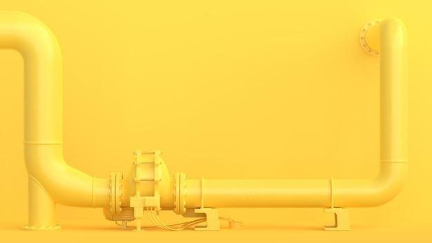 黄色のパイプライン