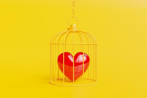 Сердце заперто в клетке.
