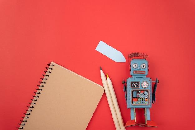 ビンテージレトロロボットブリキのおもちゃ