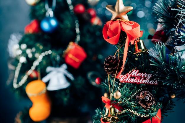 Рождественский фон с украшениями