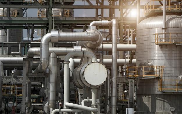 製油所プラントフォーム工業地帯の産業観