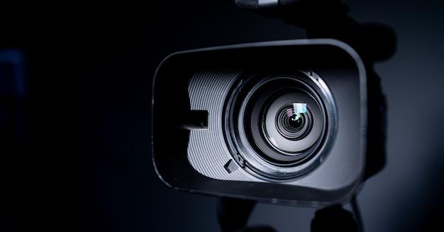 カメラとレンズズーム、クローズアップ写真