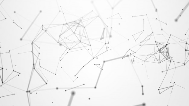 抽象的な接続ホワイトループ