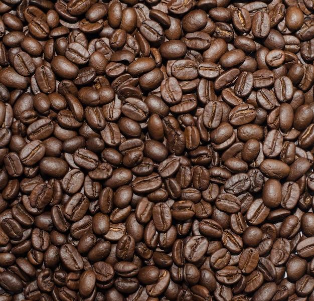 Область кофейных зерен фона для копирования пространства.