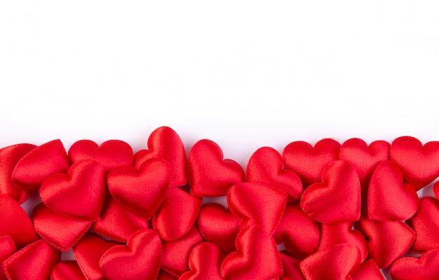 コピースペース、バレンタインデーの背景と赤いハート