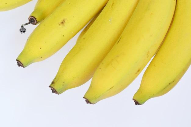 白い背景にバナナ果実