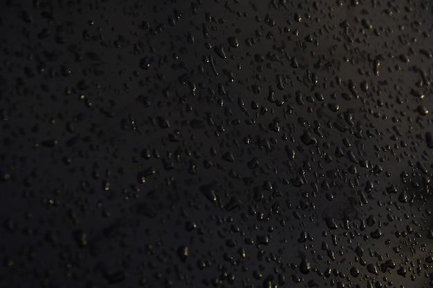 黒い背景に水滴