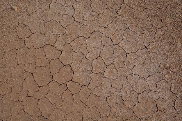 背景のひび割れた土