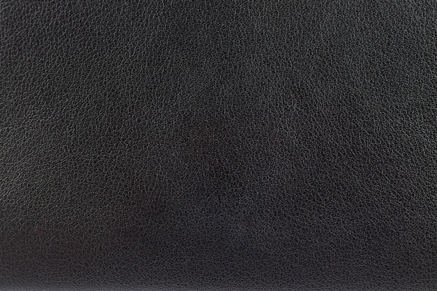 黒革の表面のクローズアップ