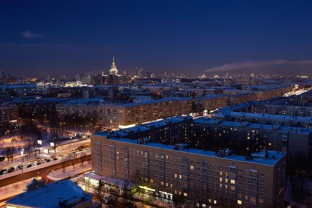 夜のモスクワ。