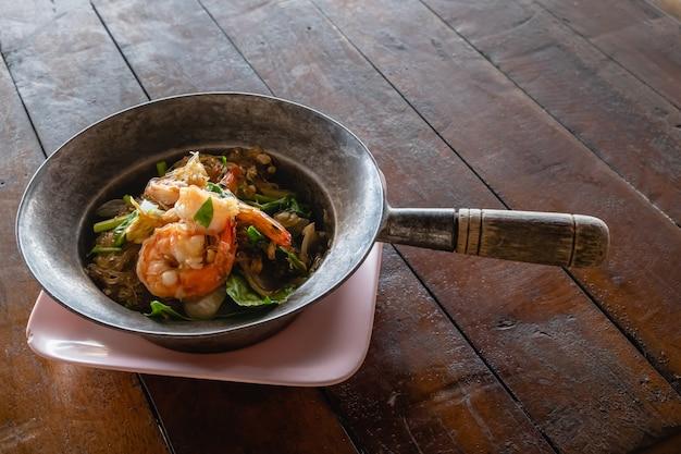 キャセロールエビ/エビのガラス麺