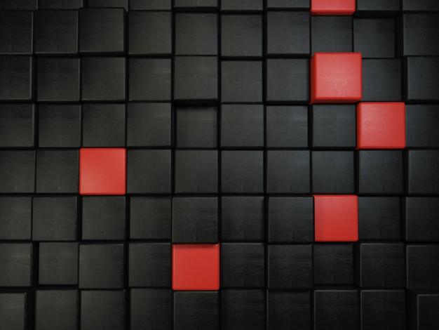 Фон из квадратов с текстурой кожи и черного и красного цветов