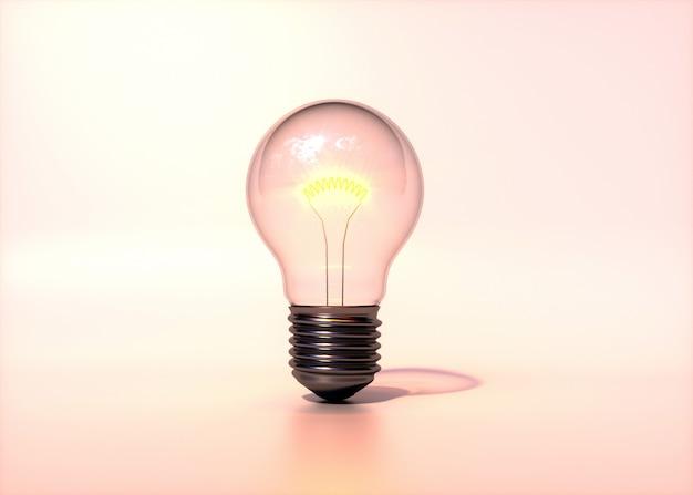 Лампочка, изолированная на мягком и теплом