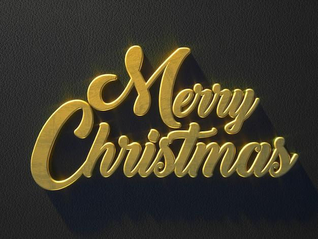 Золотое сообщение с рождеством по кожаной поверхности