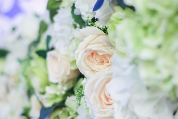 Красочные ткани цветы, день святого валентина концепция, любовь, зеленый цветок