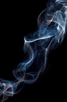 Дым с черным фоном