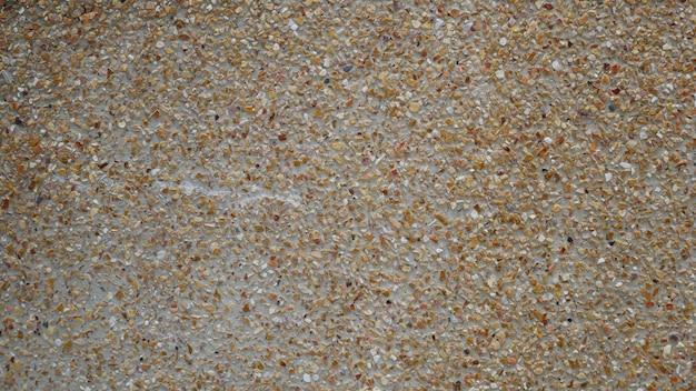 セメントの床の背景、石のコンクリートの壁