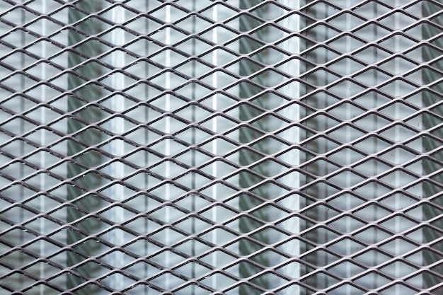 金属フェンスのテクスチャ背景