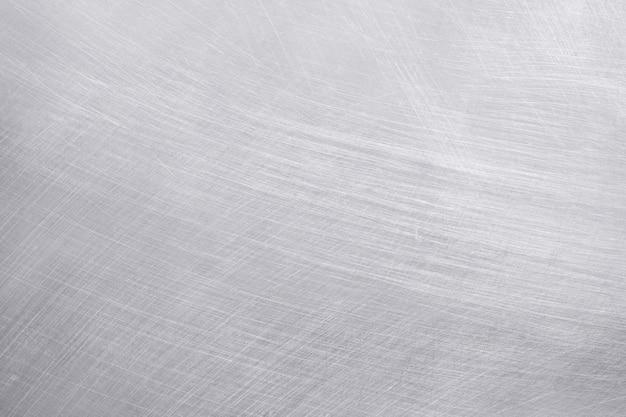 アルミニウムのテクスチャ背景、ステンレス鋼の傷。
