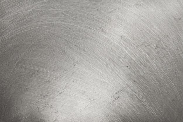 アルミニウム金属のテクスチャ背景、磨かれたステンレス鋼の傷。