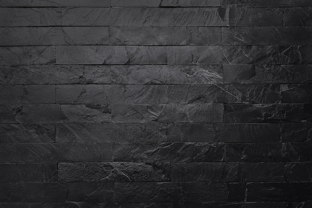 背景やデザインアート作品のための高解像度で自然なパターンで暗い灰色の黒いスレートの質感。黒い石の壁
