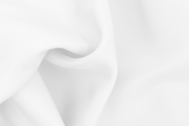 Белая текстура ткани ткани для фона и произведения искусства