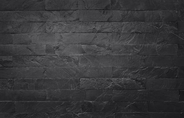 自然な黒い石の壁の背景、高解像度の暗い灰色の黒いスレートテクスチャ。