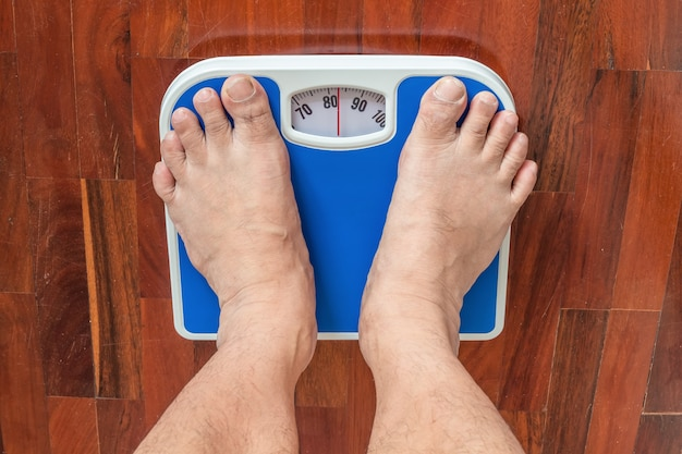 アジアの計量プラットフォームで計量する。彼は非常に太っています