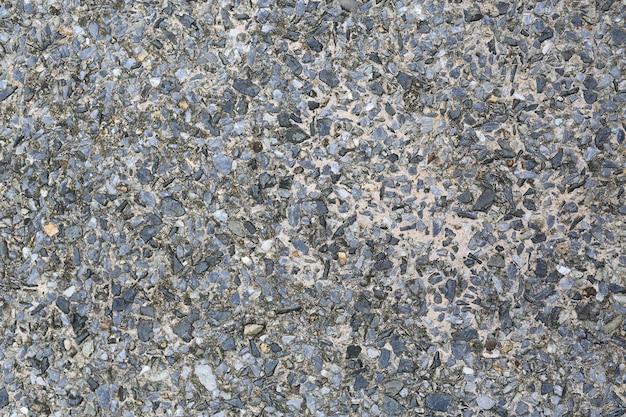 背景のための小さな砂利とのコンクリートミックス