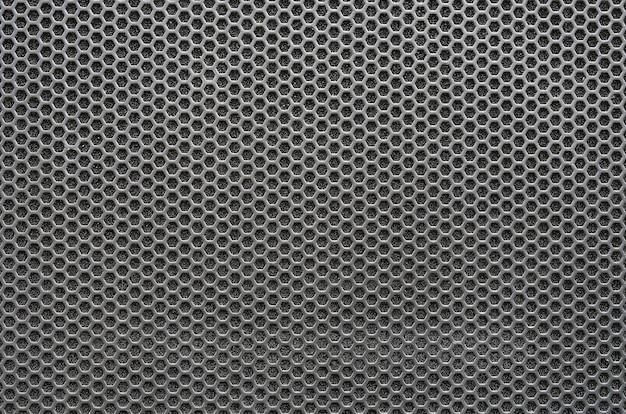 シームレスな六角穴明け金属グリルパターン