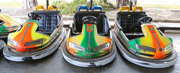 Бампер автомобили в развлечении