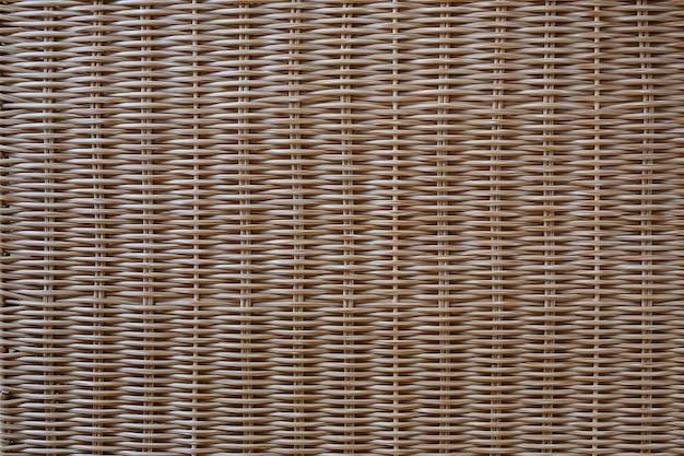 自然なパターンの編まれた藤