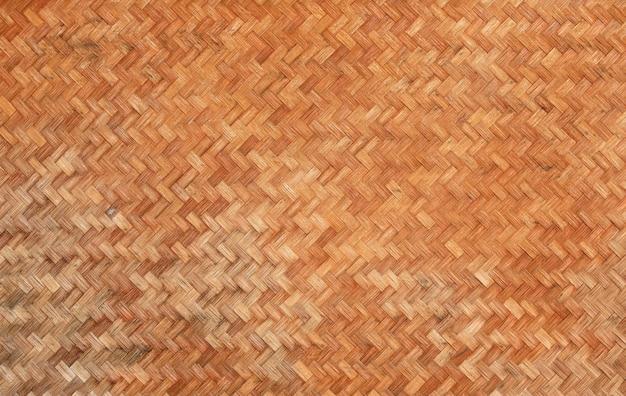 竹の壁のテクスチャ背景を織り