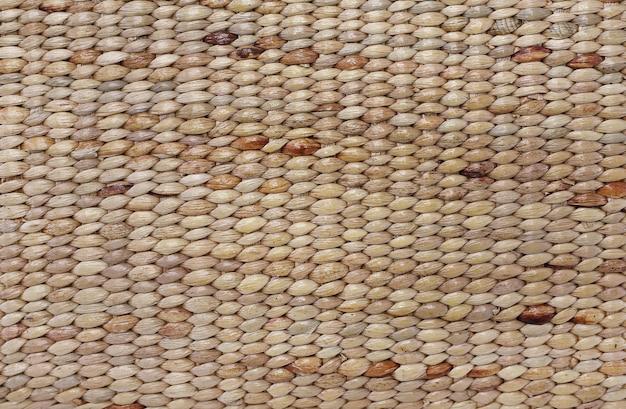 クローズアップテクスチャ背景の茶色の籐織り