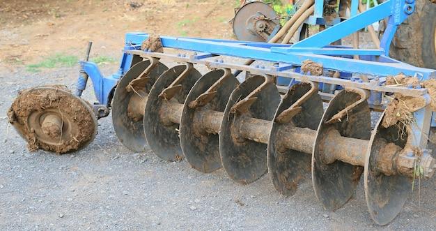 カルチベーターディッシュ、トラクター設備