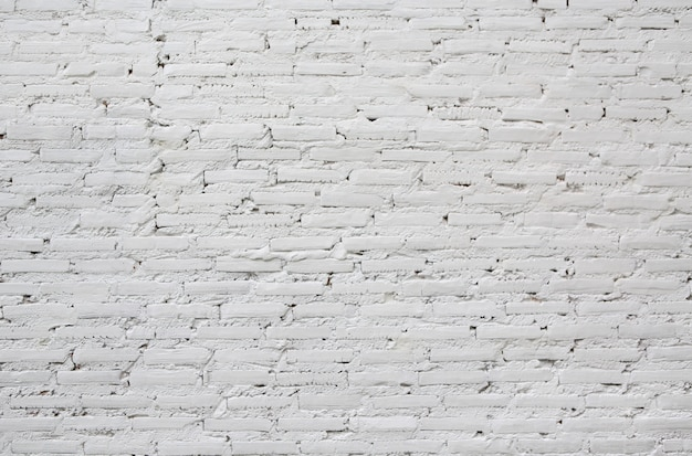 Белая предпосылка текстуры кирпичной стены.